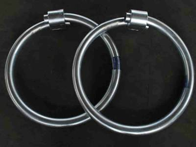 Two decompression rings on the black background.